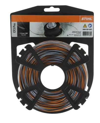 Genuine Stihl Pro High-Tech Cruciform Trimmer line  2.4mm x 70M Product Code 0000 930 4303